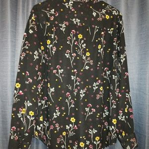 Faded Glory flower blouse